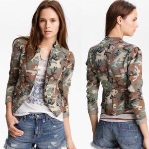 Free People Camo Blazer Jacket